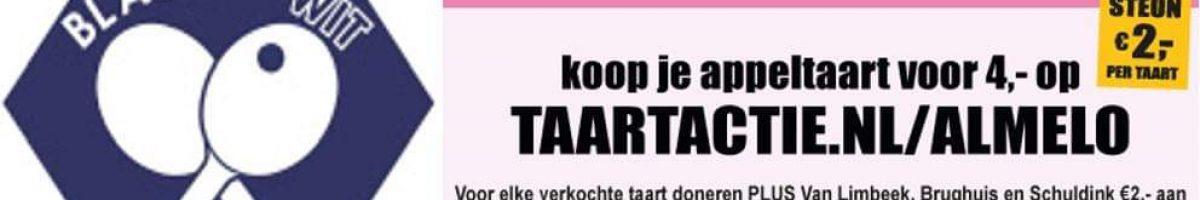 Taart-Actie-Steun-Blauw-Wit-Almelo